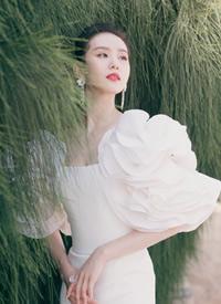 刘诗诗白色礼裙性感图片欣赏