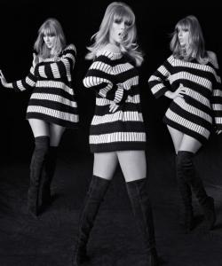泰勒·斯威夫特时尚芭莎性感写真图片