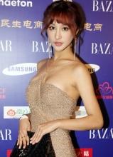 刘羽琦爆乳装亮相慈善晚宴 性感不失优雅