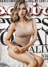 斯嘉丽·约翰逊慵懒登杂志封面 酥胸诱人风情万种