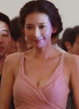 林志玲低胸装大秀乳沟 众人围观笑容甜美