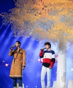 陈翔纪凌尘湖南卫视跨年演唱会舞台帅气图片