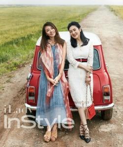 郑恺女友程晓玥与妈妈优雅写真图片