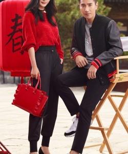 杨幂赵又廷写真图片:共同演绎新年中国红