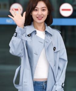 韩国美女金智媛唯美机场图片