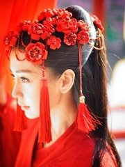 Angelababy晒电影剧照 古装扮相美哭网友