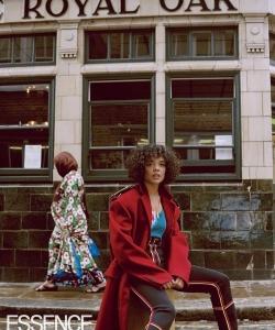 """""""女武神""""泰莎·汤普森时尚杂志街拍写真图片"""