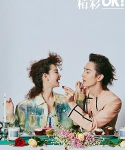 戚薇李承铉新年封面写真图片