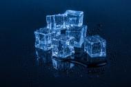蓝色冰块图片(14张)