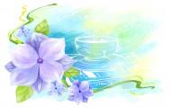 手绘花朵背景插画图片(34张)