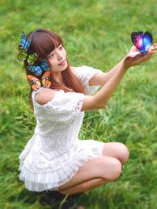 蝴蝶姑娘的户外写真