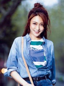 中国好声音陈冰引领时尚潮流写真
