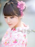 纯美日系和服少女浪漫樱花的秘密
