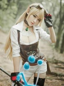 性感美女cosplay英雄联盟风暴之怒迦娜写真