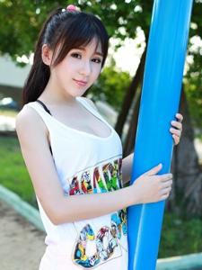 清新美女唐雨辰TYC大学内甜美养眼写真