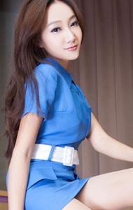 蓝色制服丝袜美女诱惑