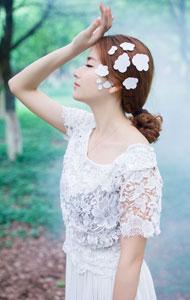 唯美系列森林女系美女户外写真