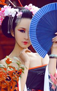 日本古代艺伎图 红唇性感美艳