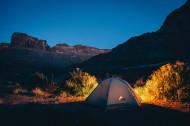 星空下旅行的帐篷图片(13张)