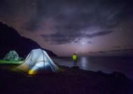 夜晚露营的帐篷图片(16张)
