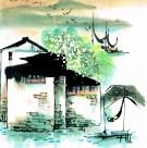 江南水乡冬天水墨图片(50张)