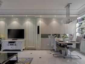 简单清爽大气简欧风格三居装潢设计