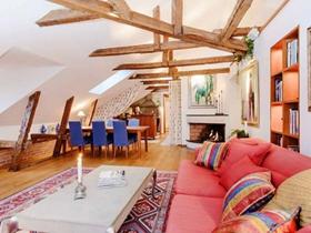 华丽美式风格二居室100平装修案例