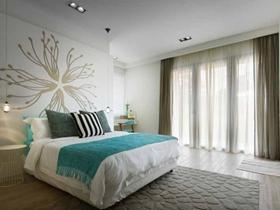质朴简约时尚风格四居装潢设计案例