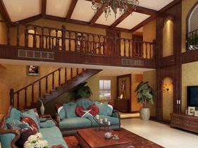美式风格三房两厅精致装修效果图