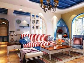 清爽、舒适地中海装修风格经典案例