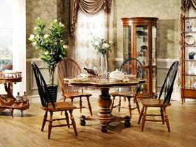 欧式复古家具豪华餐厅装修效果图