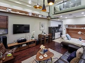 北欧简约风格木质家具客厅设计图赏