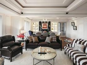 美式风格四居室家居装修设计效果图