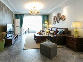 东南亚简约风格大户型客厅设计图赏