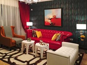 60平两居室摩登混搭风格装潢设计欣赏