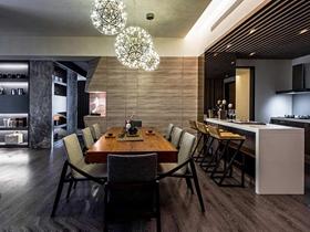 雅致现代风格120平两居室装潢案例