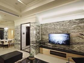 雅致新古典风格130平三居装修案例