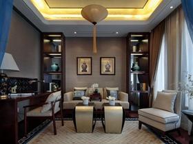 中式古色雅致三居装修案例