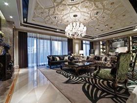 华丽时尚大气欧式三居装修设计欣赏