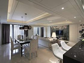 浪漫轻奢简欧风格两居装潢设计