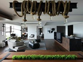 质感现代风格150平三居装修案例
