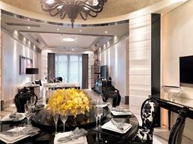 温馨优雅简欧风格两居大户型装潢设计