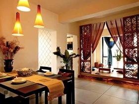 雅致大方中式风格两居装修效果图