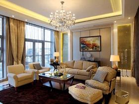 米色温馨现代风格别墅装修案例