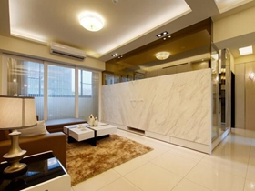 时尚质感现代132平三居装修设计
