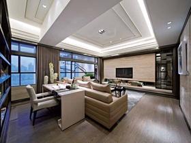 典雅三居现代风格装潢案例欣赏