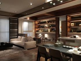简洁雅致中式风格三居室装修案例