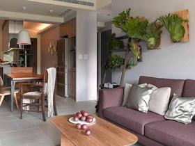 自然休闲混搭风格两居装修案例