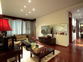 雅致中式风格120平二居室装修案例