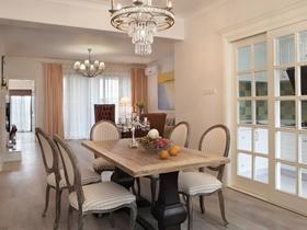 清新舒适欧式风格140平四居室装潢设计